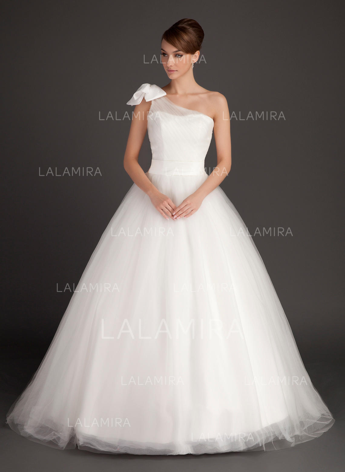 9fa58490c980 Halagador General Grande Un hombro Corte de baile Tul Vestidos de novia  (002196893). Loading zoom. Cargando