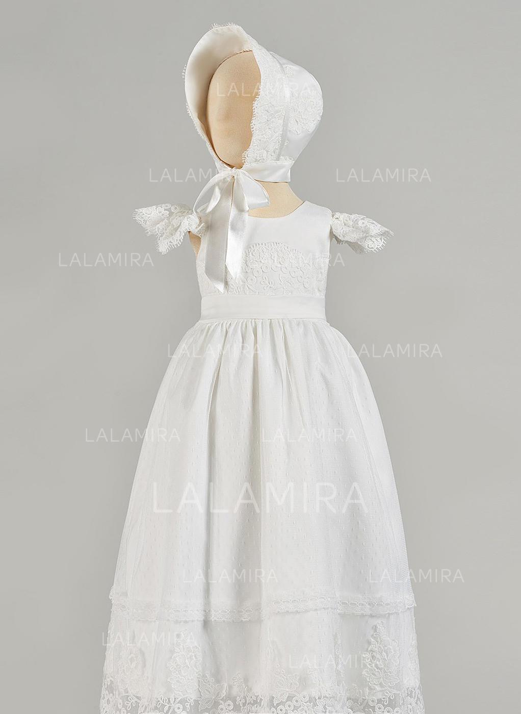 6ec1928a7 Satén Tul Escote redondo Vestidos de bautizo para bebés con Manga corta  (2001217434). Loading zoom. Cargando
