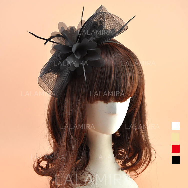 f21e8376f3423 Organza With Feather Fascinators Vintage Ladies' Hats (196195077). Loading  zoom