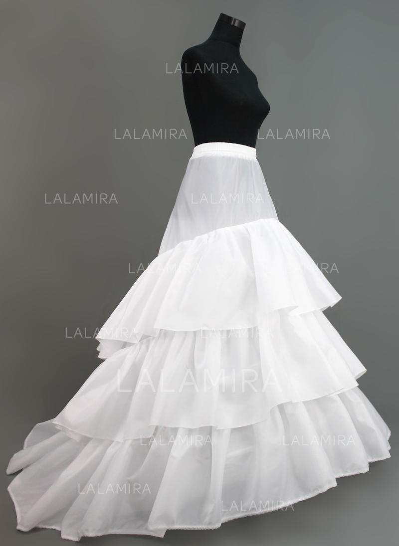 Petticoats Chapel Train Nylon/Tulle Netting Ball Gown Slip/Full Gown ...