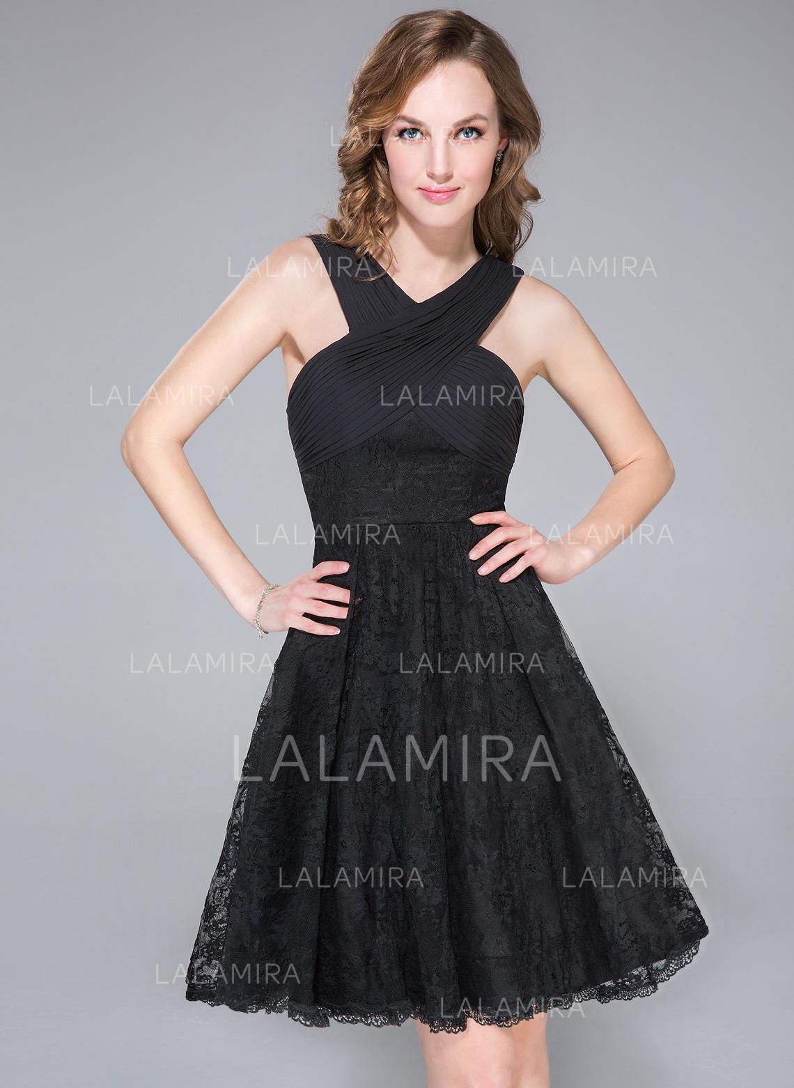 e581e3fda56f0 Fashion Chiffon Lace Regular Straps Sleeveless A-Line/Princess Cocktail  Dresses (016041150). Loading zoom