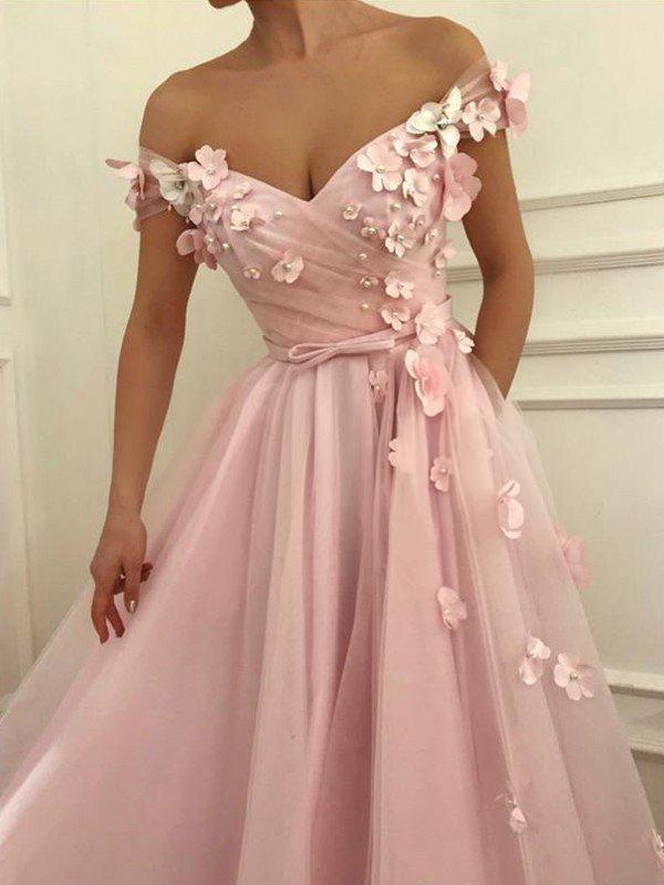 Floral Print Maxi Prom Dress