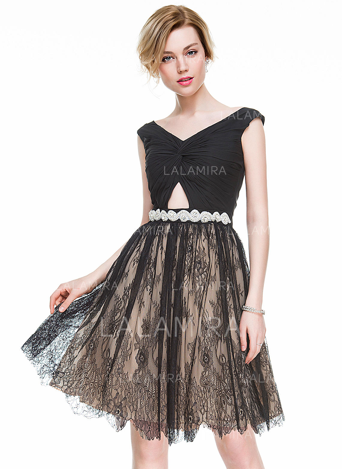 37658311b1634 Magnificent A-Line/Princess V-neck General Plus Chiffon Lace Cocktail  Dresses (. Loading zoom