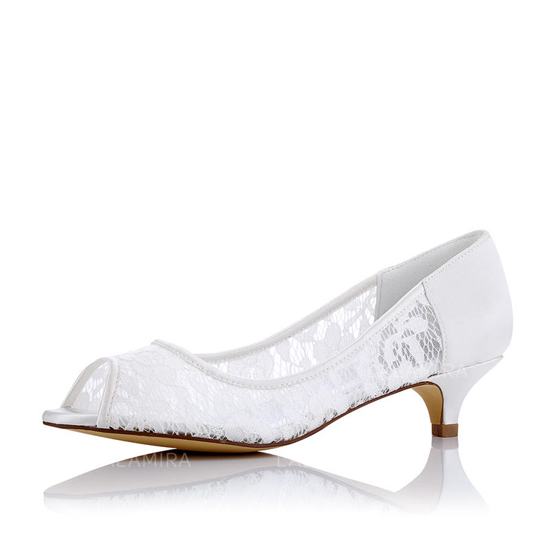 06cf12c552e Women s Peep Toe Low Heel Cloth Mesh Wedding Shoes (047208668). Loading zoom