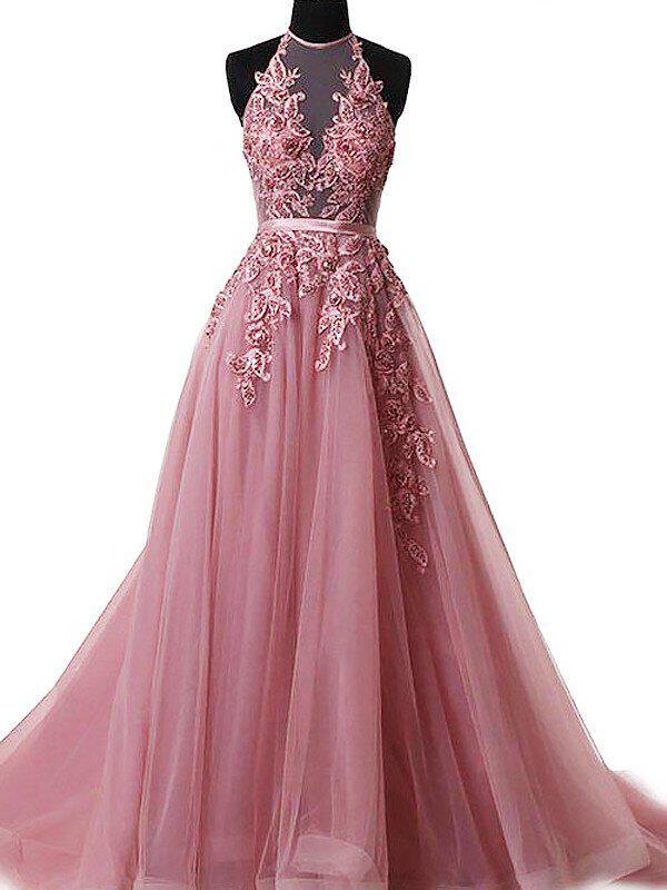 pink flower girl dresses