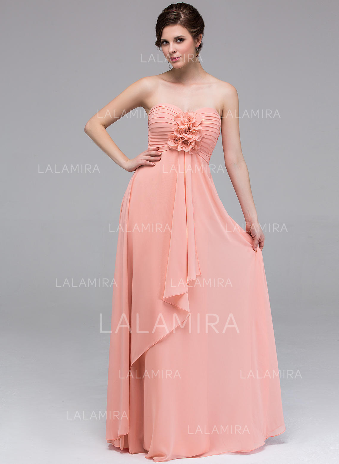 2876ad69fdfe A-Line/Princess Chiffon Bridesmaid Dresses Flower(s) Cascading Ruffles  Sweetheart Sleeveless. Loading zoom