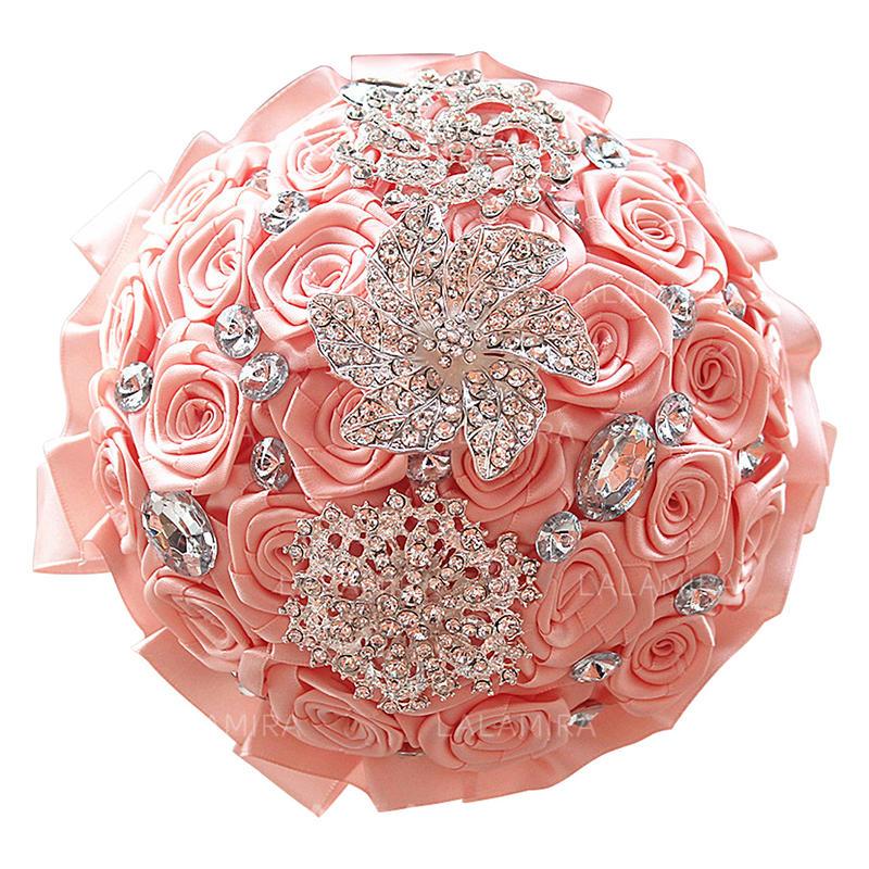 Bouquet Sposa Unico Fiore.Free Form Raso Mazzi Da Sposa Mazzi Damigella D Onore Regali Di