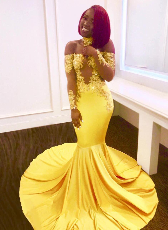 34df059df729 Trumpet/Mermaid Prom Dresses Modern Sweep Train Off-the-Shoulder Long  Sleeves (. Loading zoom