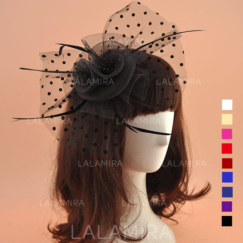 aa18d1632ad27 Organza With Feather Fascinators Vintage Ladies' Hats (196195069). Loading  zoom