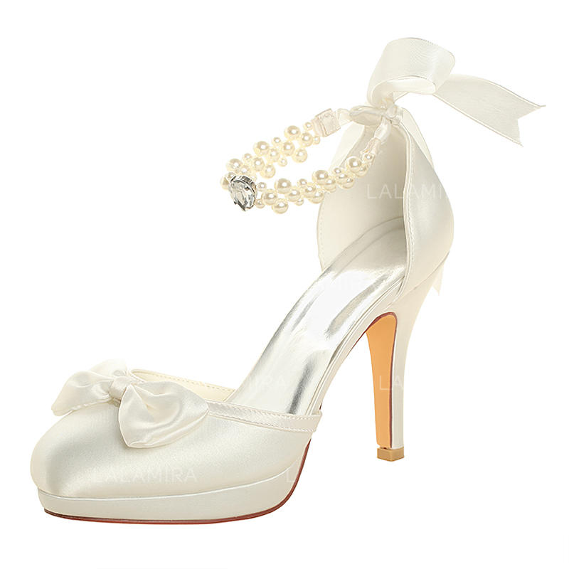 3caef9e9af1 Women s Platform Pumps Stiletto Heel Silk Like Satin With Crystal Pearl  Wedding Shoes (047208722). Loading zoom
