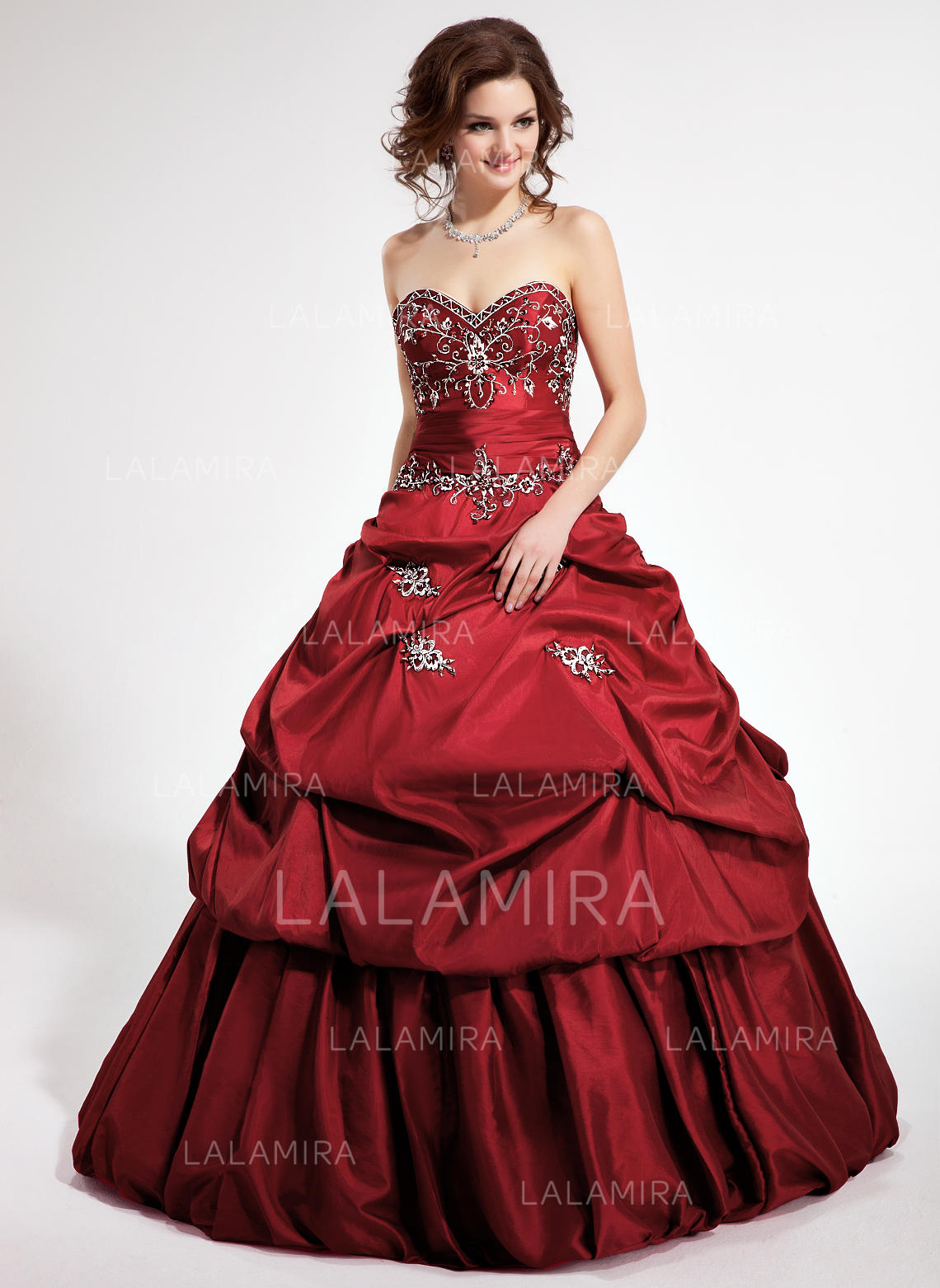 8d713b4fcad Ball-Gown Taffeta Prom Dresses Fashion Floor-Length Sweetheart Sleeveless  (018135455). Loading zoom