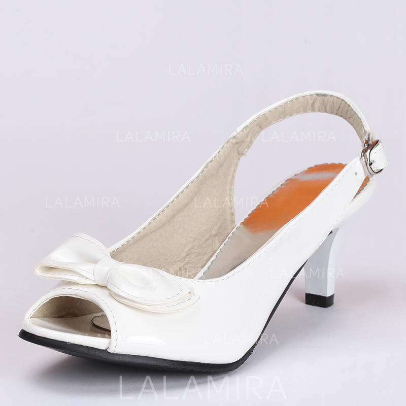 9b9d69c08a Women's Peep Toe Sandals Kitten Heel Leatherette With Bowknot Buckle  Wedding Shoes (047208880). Loading zoom