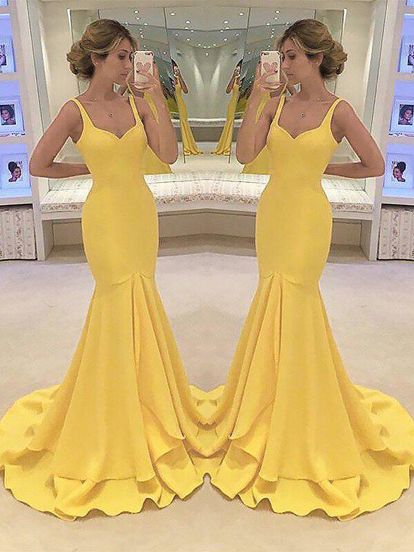 general plus sweetheart trumpet/mermaid - charmeuse modern prom dresses