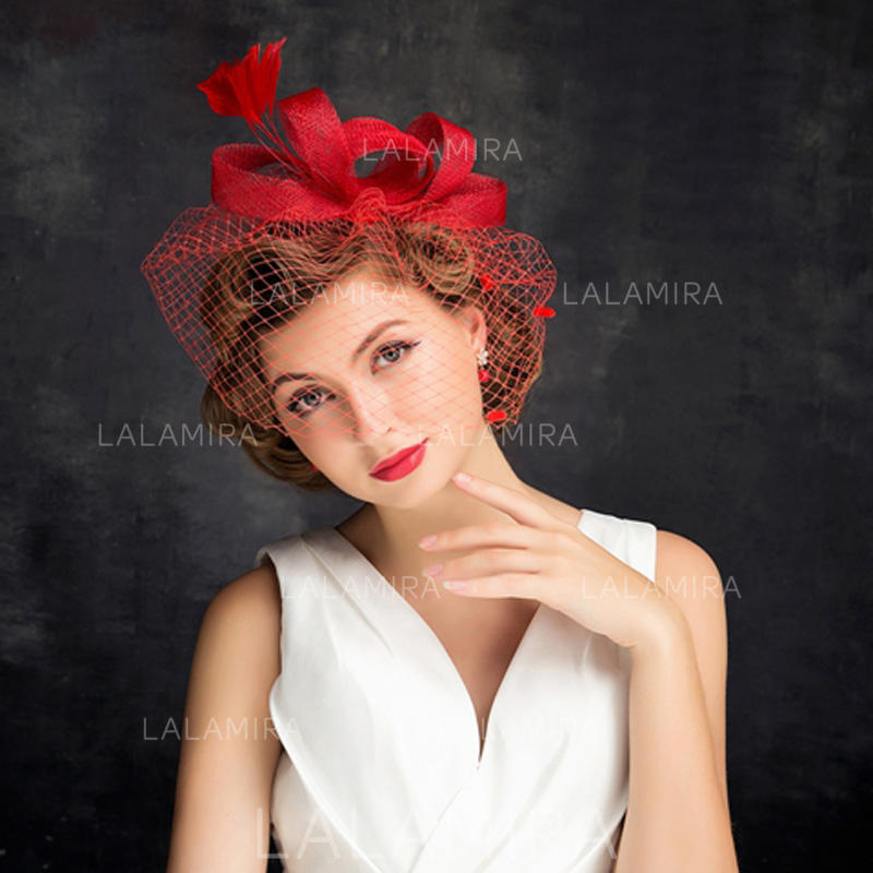 0f36d4eae515f Feather/Net Yarn With Feather/Tulle Fascinators Charming Ladies' Hats  (196194200). Loading zoom
