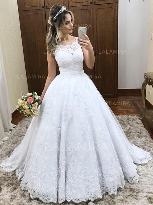 Flatteur Tulle Robes de mariée avec Bretelles