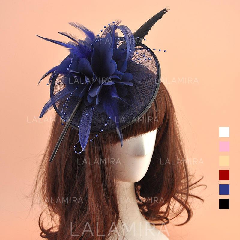 1d64de47b87a4 Organza With Feather Fascinators Vintage Ladies' Hats (196195055). Loading  zoom