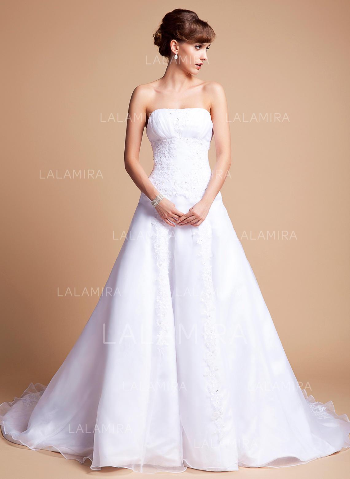 Satin Princess Wedding Dress