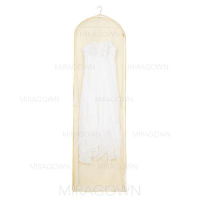 Housse à vêtements Longueur de robe Fermeture sur le côté Non-tissés Beige Housse pour tenue de mariage (035053126)