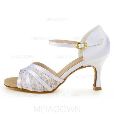 Femmes Latin Talons Sandales Satiné Chaussures de danse (053091993)