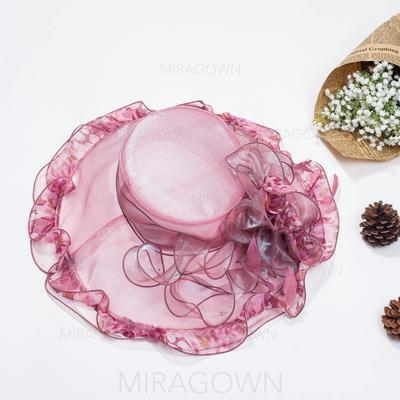 Organza Chapeau melon / Chapeau cloche Beau Dames Chapeau (196076042)