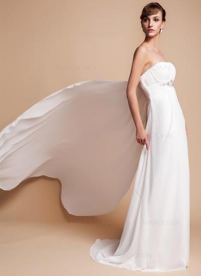 enkle flytende brudekjoler