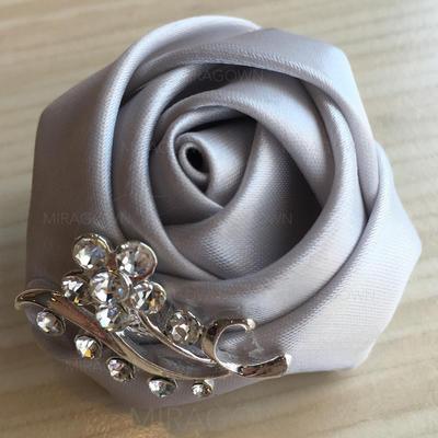 """Boutonnière Rond Mariage/Fête Satiné 2.36""""(Approximative .6cm) Fleurs de mariage (123129755)"""