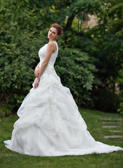 pluss størrelsen brudekjoler av skulder