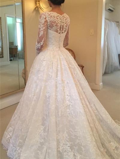 robes de mariée avec des manches