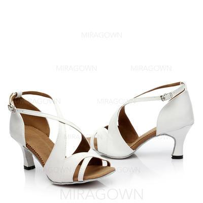 Femmes Latin Talons Sandales Similicuir avec Boucle Ouvertes Chaussures de danse (053108033)