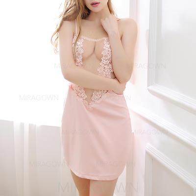 Vêtements de nuit Soie Sexy Culotte/vêtements de nuit/Jupe Lingerie (041142990)