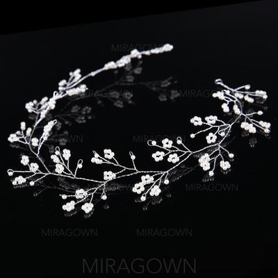 Glamorøse Crystal/Legering/Imitert Perle Pannebånd (Selges i ett stykke) (042130007)