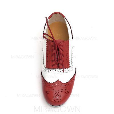 Unisexe Claquettes Chaussures plates Vrai cuir Chaussures de danse (053082969)