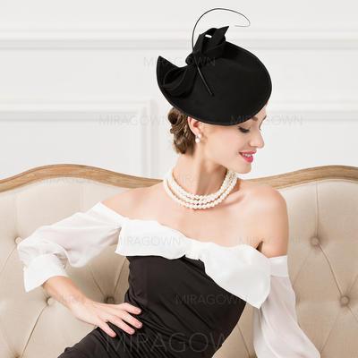 Coton avec Feather Chapeaux de type fascinator Accrocheur Dames Chapeau (196109813)