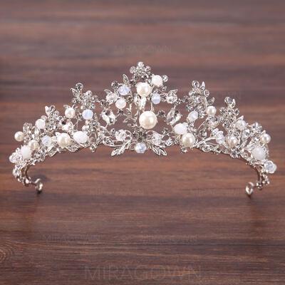 Damer Elegant Rhinestone/Legering/Imitert Perle Tiaraer med Rhinestone/Venetianske Perle (042138720)