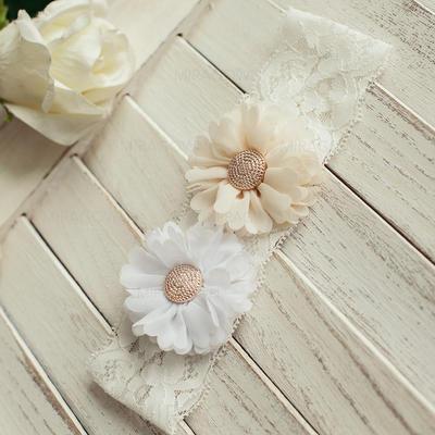 Jarretière Femmes Mariage Satiné avec Une fleur Jarretières (104093880)