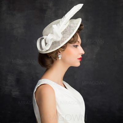 Feather/Tulle/Lin avec Feather Chapeaux de type fascinator Style Classique Dames Chapeau (196105127)