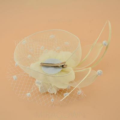 Polyester avec Feather Chapeaux de type fascinator Élégante Dames Chapeau (196122286)