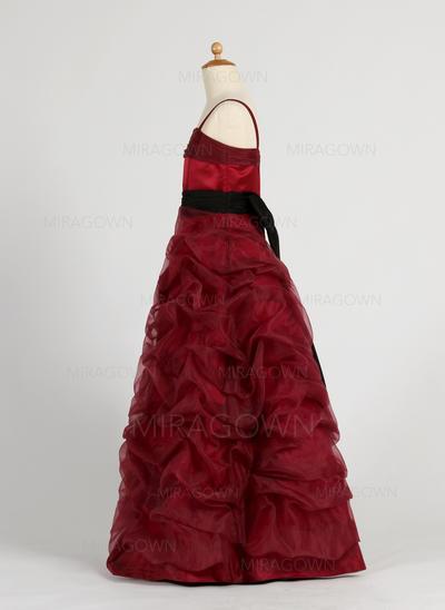 Magnifique Robe Marquise Robes de demoiselle d'honneur - fillette Longueur ras du sol Organza/Satiné Sans manches (010005794)