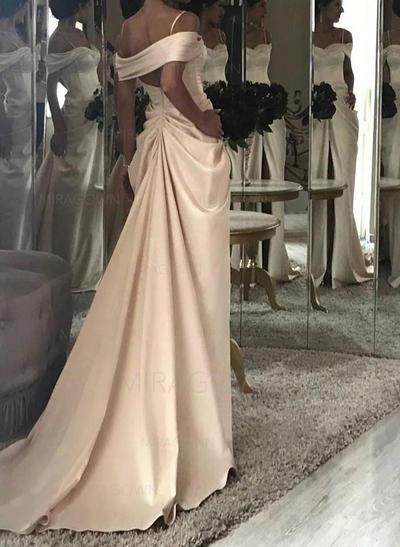 korte rosa brudekjoler