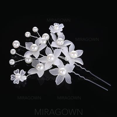 Filles Glamour Alliage/De faux pearl épingles à cheveux (Vendu dans une seule pièce) (042122741)