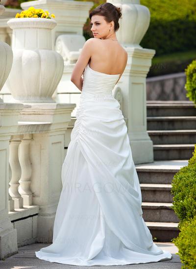 en linje chiffon brudekjoler