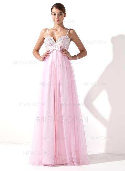 longues robes de soirée pour les filles de fleurs