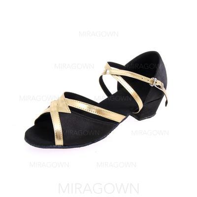Femmes Latin Talons Similicuir avec Boucle Chaussures de danse (053103218)