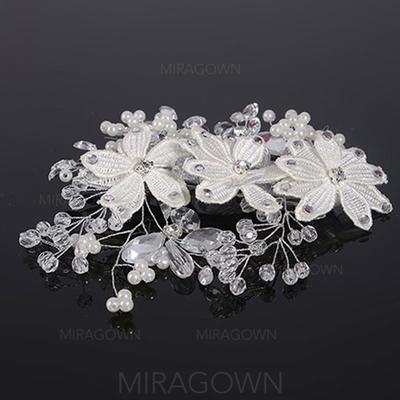 Elegant Crystal/Legering/Imitert Perle Kammer og Barrettes (Selges i ett stykke) (042130212)
