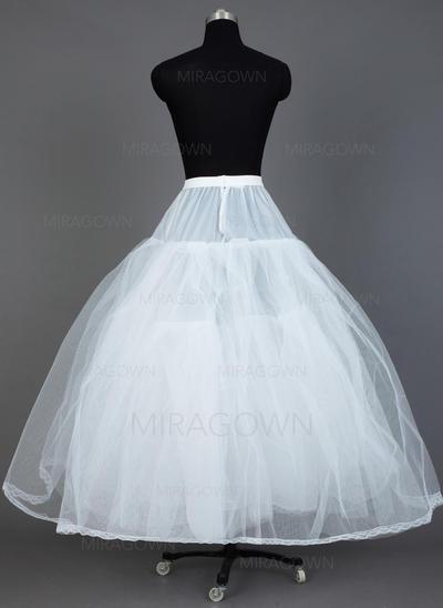 Jupons Longueur ras du sol Tissu tulle/Taffeta Combinaison pour robe de bal 3 couches Jupons (037031009)