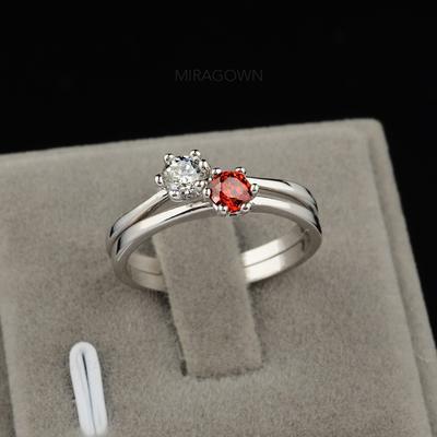 Bagues Zircon de/Platine plaqué Dames Élégante Mariage & Bijoux de Soirée (011055242)