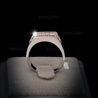 Bagues Cuivre/Zircon de/Platine plaqué Dames Unique Mariage & Bijoux de Soirée (011060639)