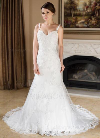 sweetheart robes de mariée au décolleté