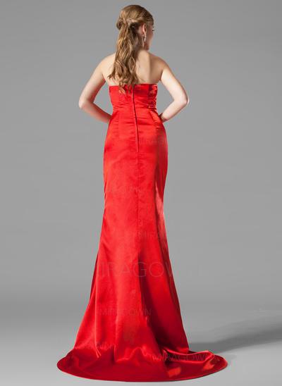 robes de soirée rose en dentelle à manches longues