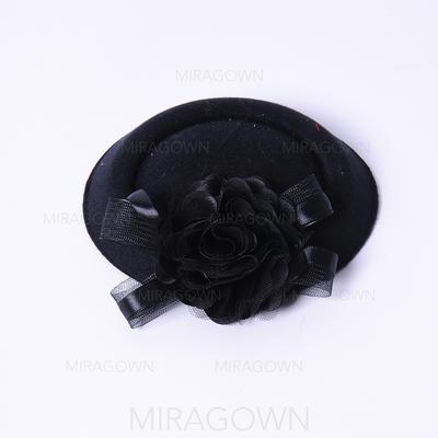 Fleur en soie Chapeaux de type fascinator Élégante Clip Chapeau (196122692)